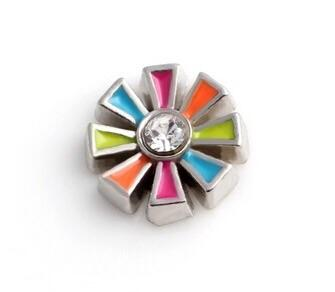 Memory Locket Charm - Multi-colour flower - Your Locket