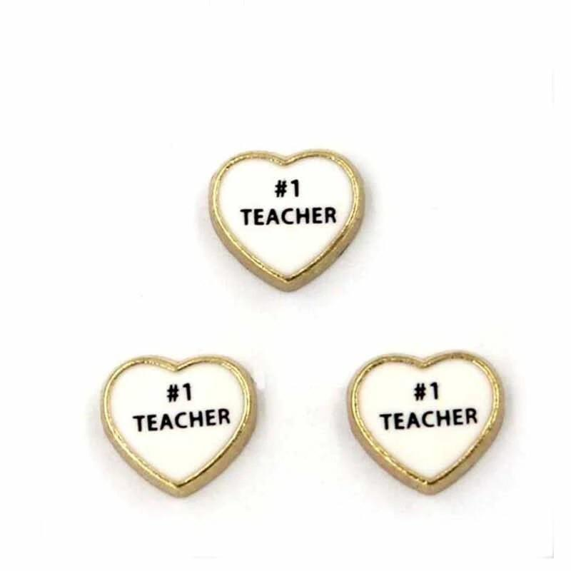 Memory Locket Charm - Number 1 teacher