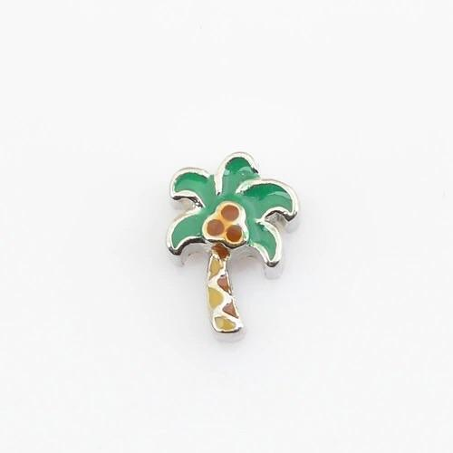 Memory Locket Charm - Palm tree