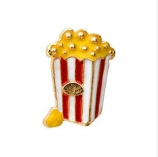 Memory Locket Charm - Popcorn Gold