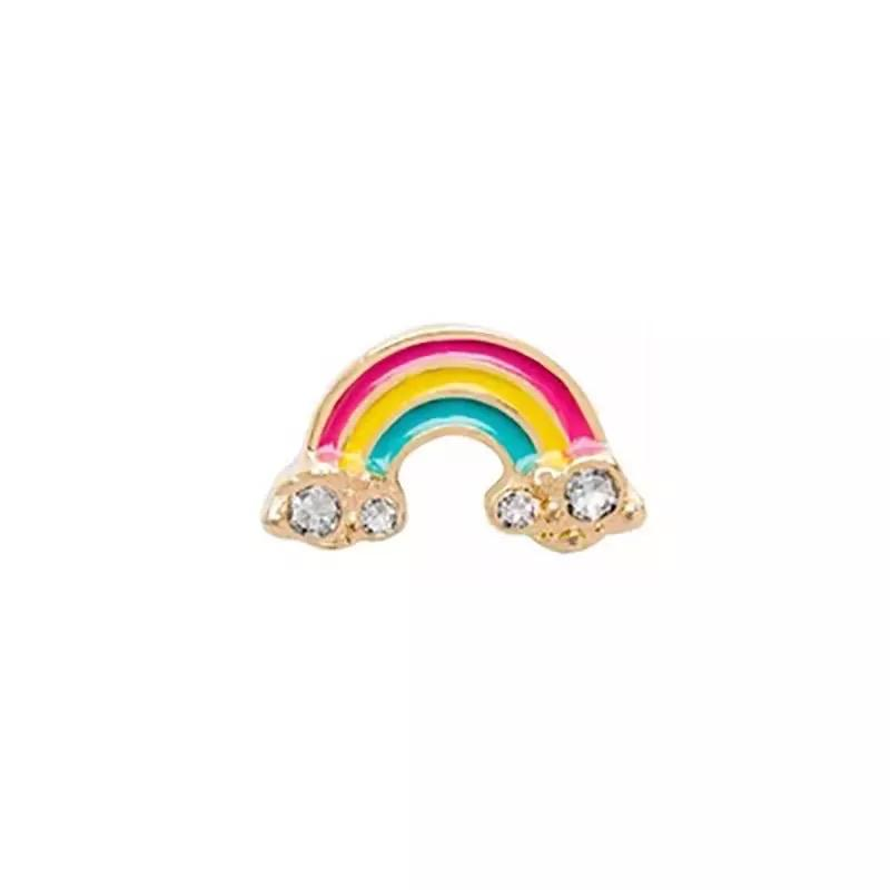 Memory Locket Charm - Rainbow Gold