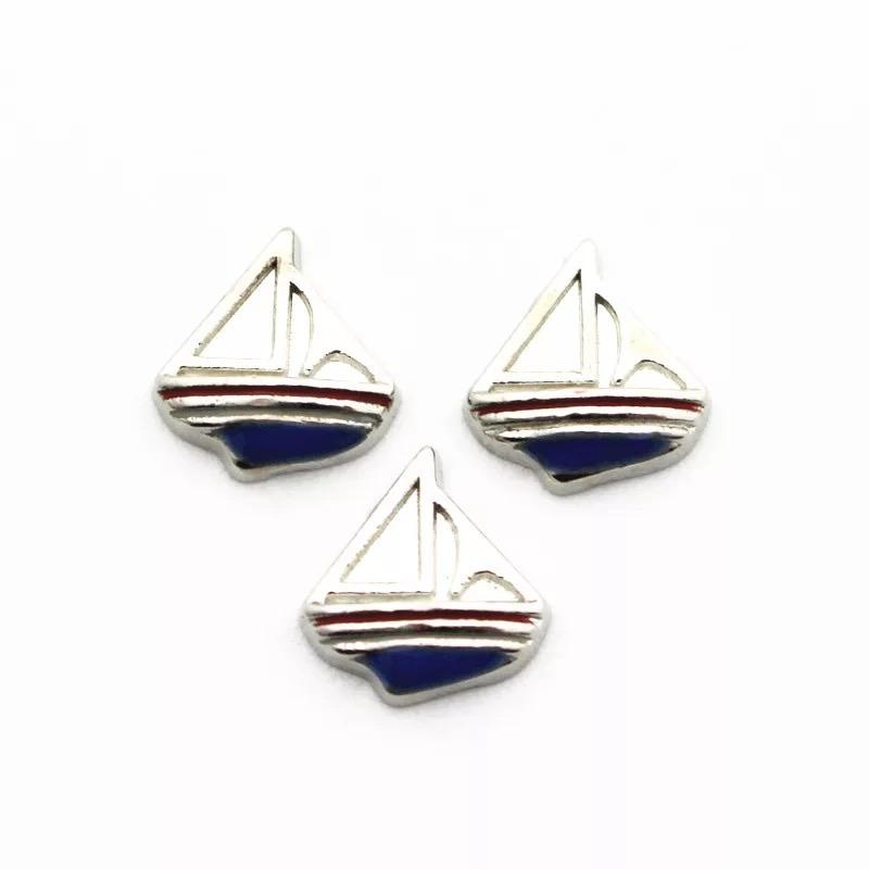 Memory Locket Charm - Sail boat