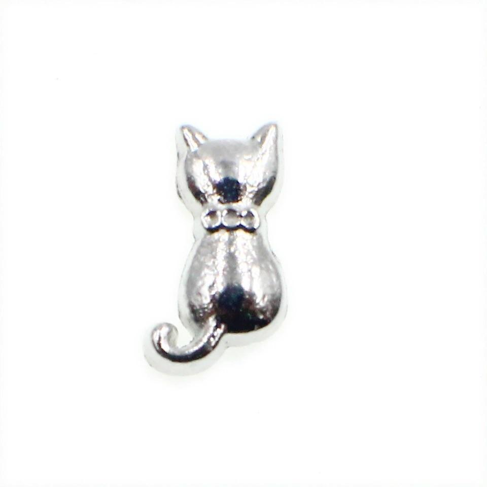 Memory Locket Charm - Silver cat - Your Locket