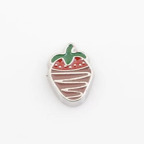 Memory Locket Charm - Strawberry with chocolate