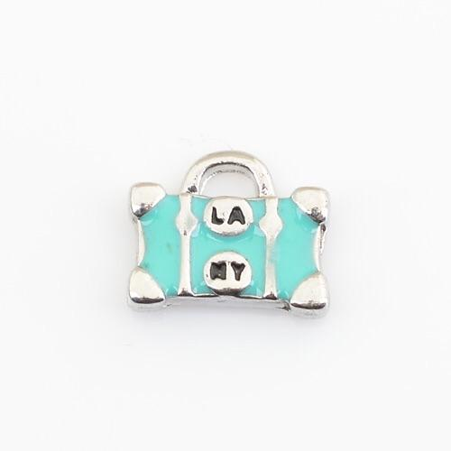 Memory Locket Charm - Suitcase