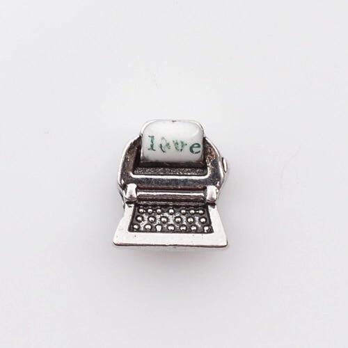 Memory Locket Charm - Typewriter