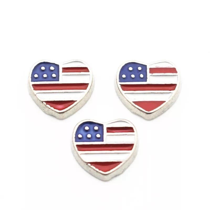 Memory Locket Charm - USA