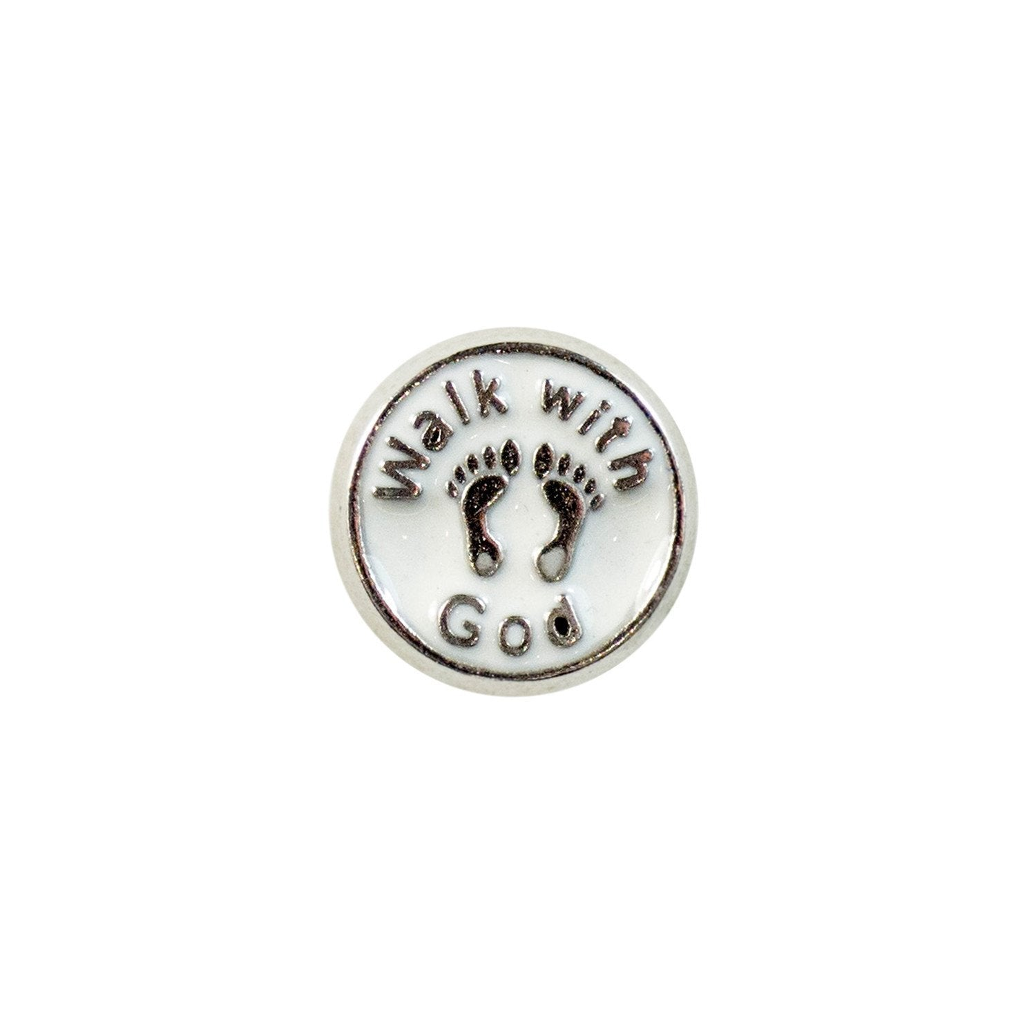 Memory Locket Charm - Walk with God