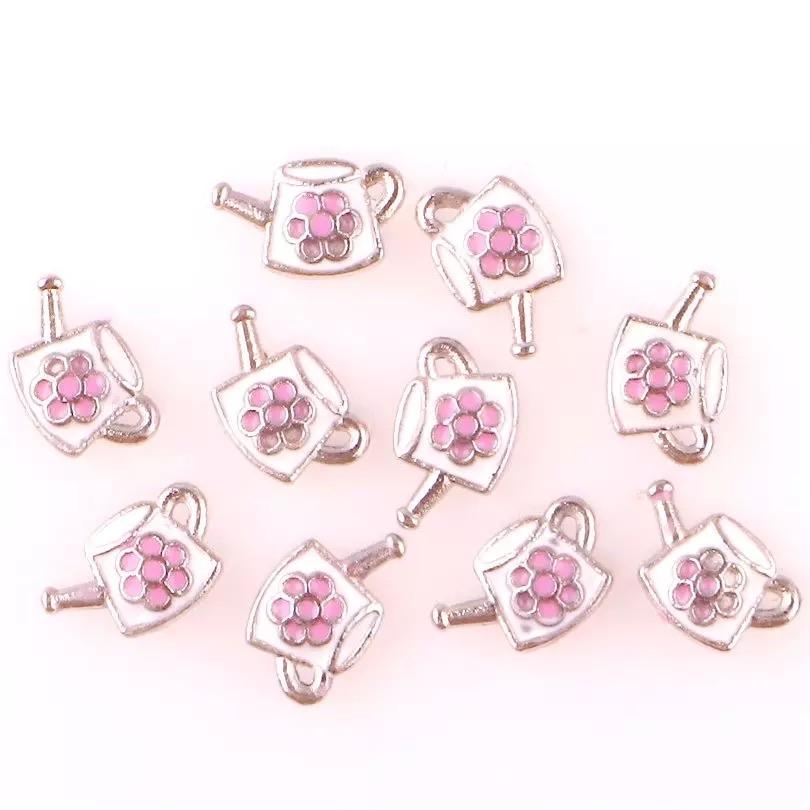 Memory Locket Charm - Watering Can with Flower - Your Locket