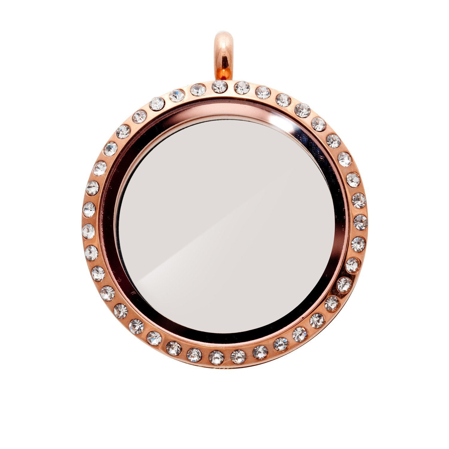 Memory Locket Rose Gold Crystal - Large