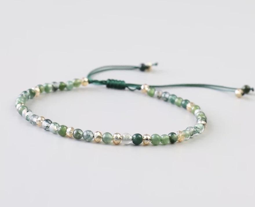 Natural Stone Bracelet - Green Aqua - Your Locket