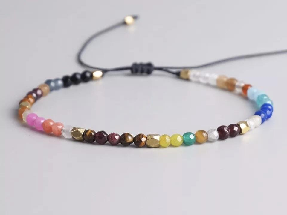 Natural Stone Bracelet - Multicolour - Your Locket