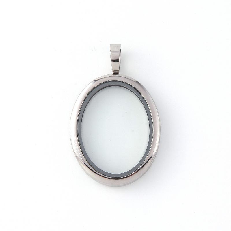 NEW! Memory Locket Silver Oval