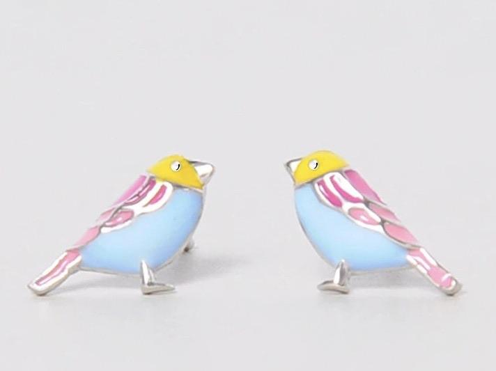 Sterling Silver Earrings - Birdie
