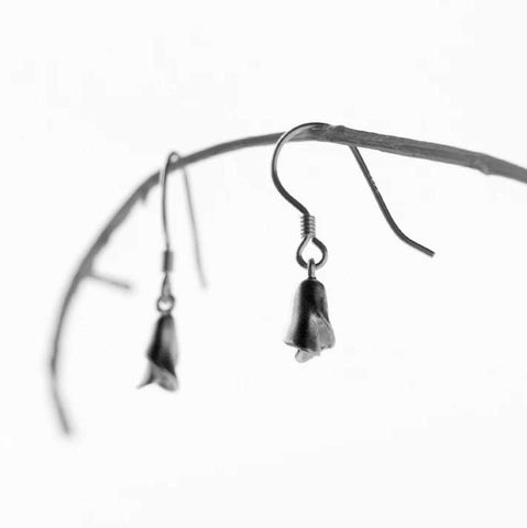 Sterling Silver Earrings - Calla Lily Drops