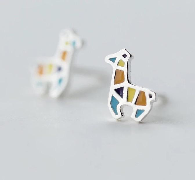 Sterling Silver Earrings - Giraffe