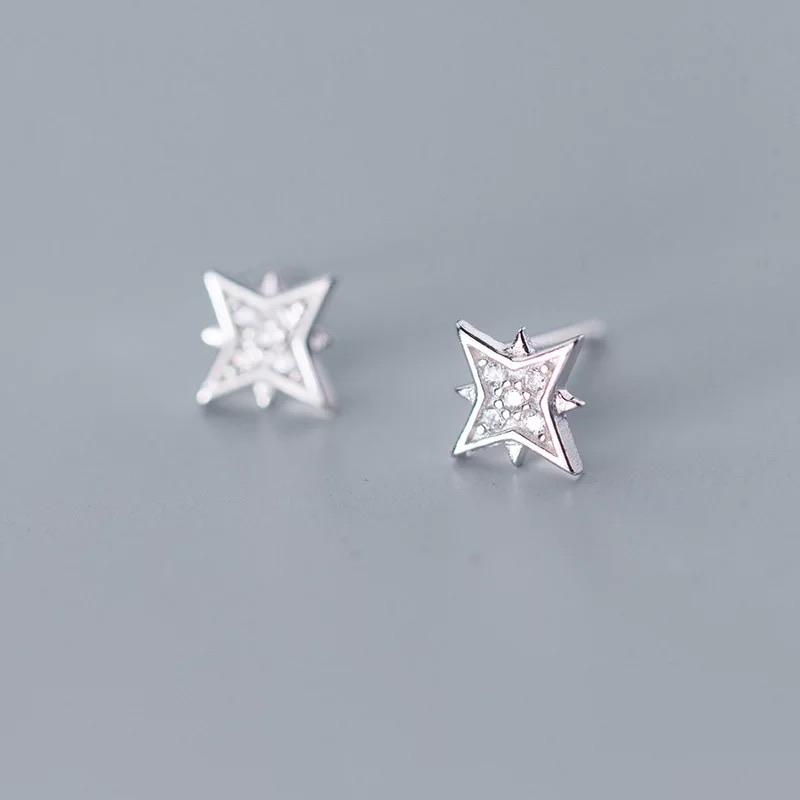 Sterling Silver Earrings - North Star - Your Locket