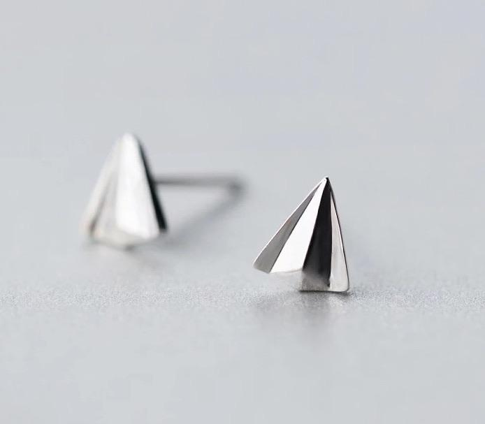 Sterling Silver Earrings - Paper Plane - Your Locket