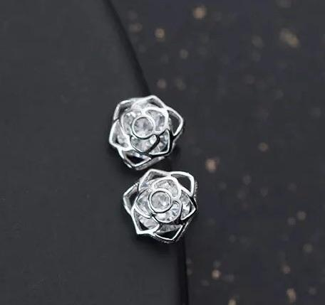 Sterling Silver Earrings - Rose Sparkle - Your Locket