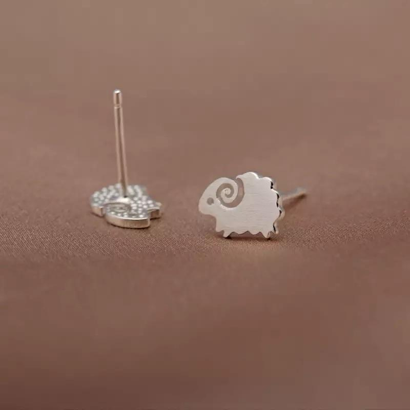 Sterling Silver Earrings - Sheep - Your Locket
