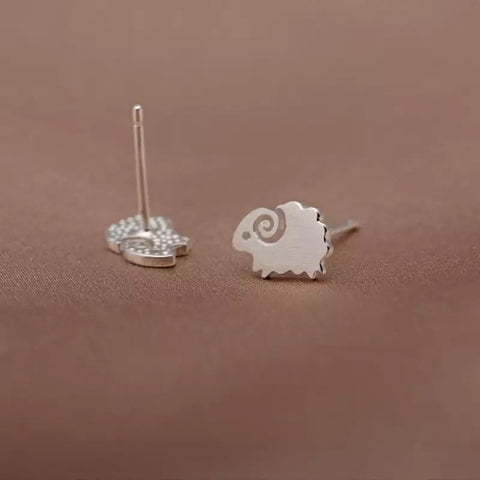 Sterling Silver Earrings - Sheep