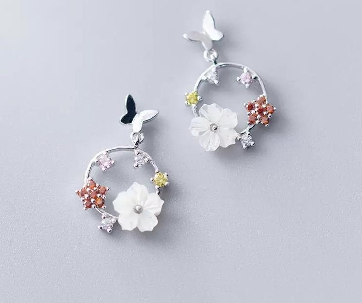 Sterling Silver Earrings - Spring Hoop