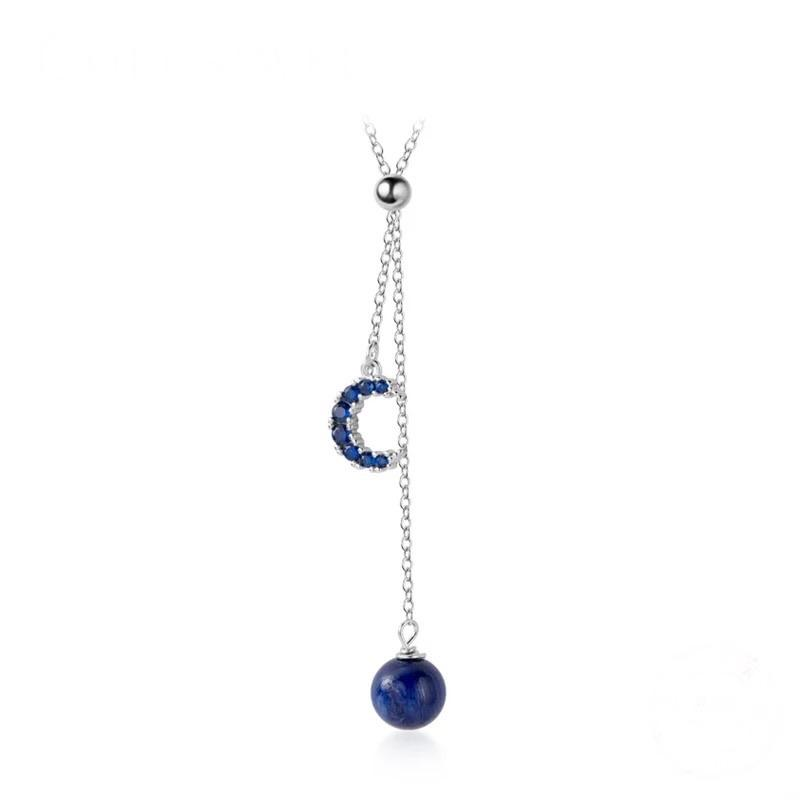 Sterling Silver Necklace - Blue Moon