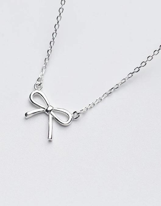 Sterling Silver Necklace - Bow - Your Locket