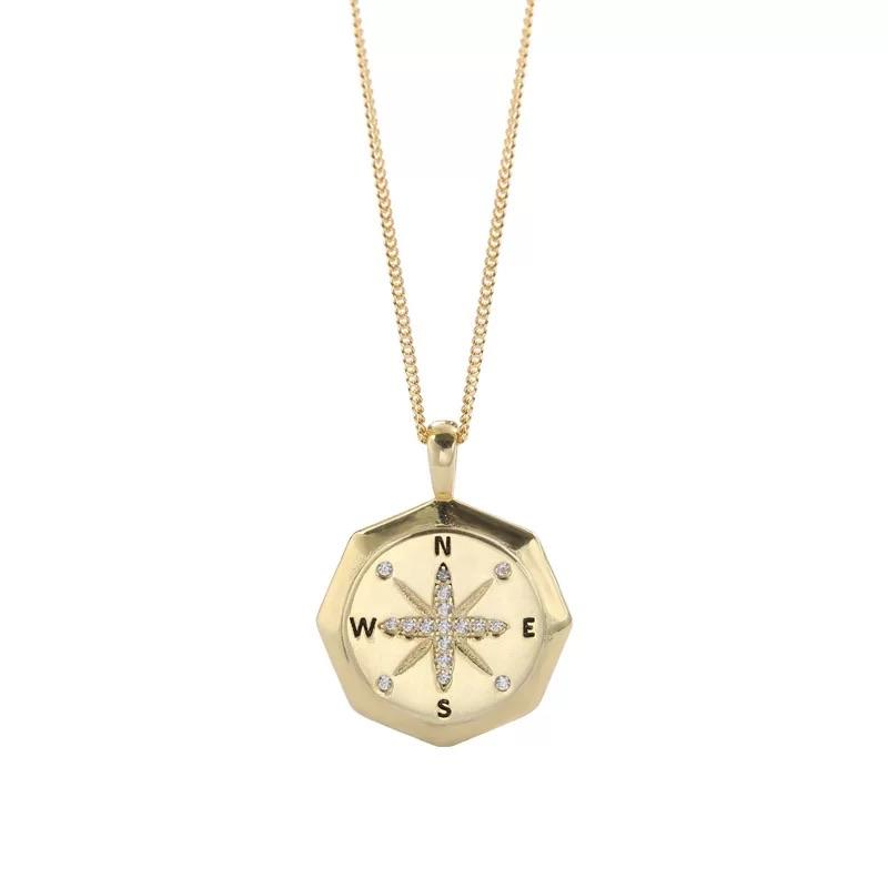 Sterling Silver Necklace - Compass - Your Locket