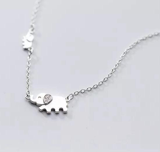Sterling Silver Necklace - Ellie and Child