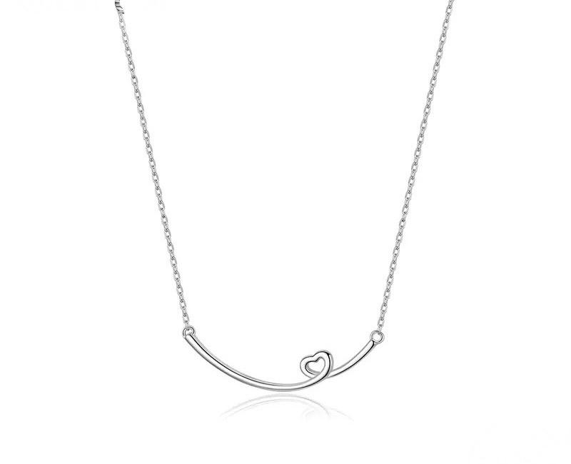 Sterling Silver Necklace - Heart Swirl
