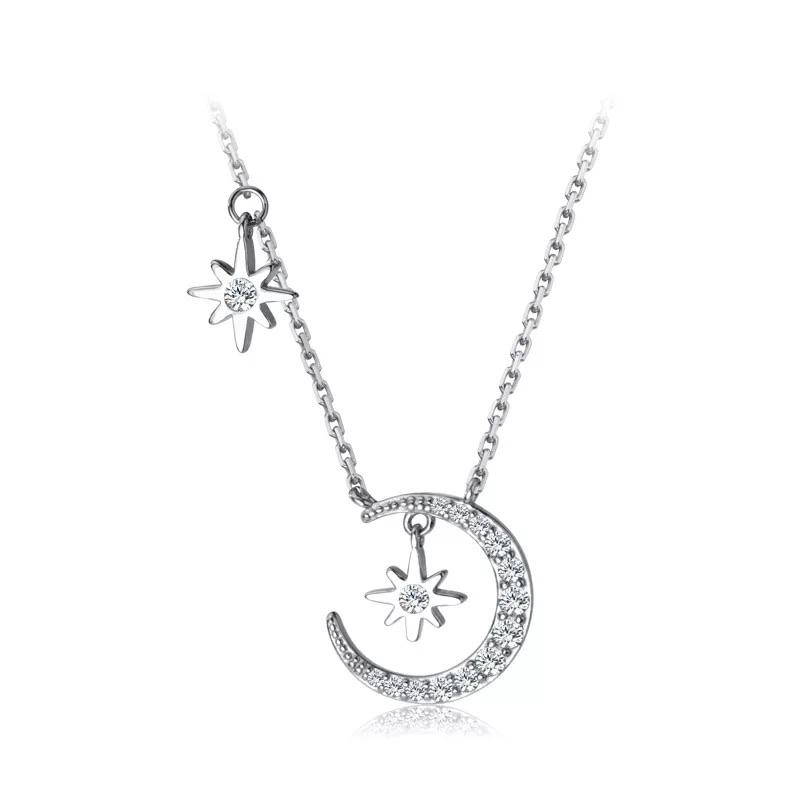 Sterling Silver Necklace - Moon and Stars - Your Locket