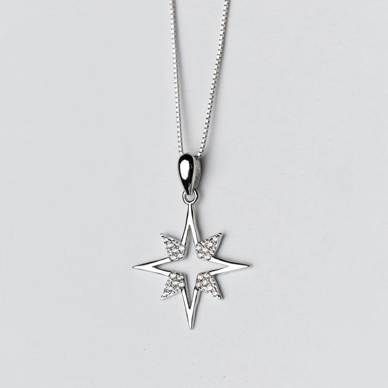 Sterling Silver Necklace - North Star