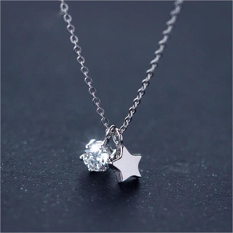 Sterling Silver Necklace - Star Shine