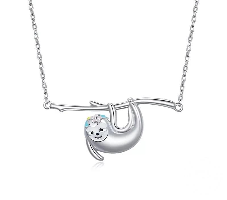 Sterling Silver Necklace - Sweet Sloth - Your Locket