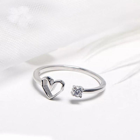 Sterling Silver Ring - Open Heart