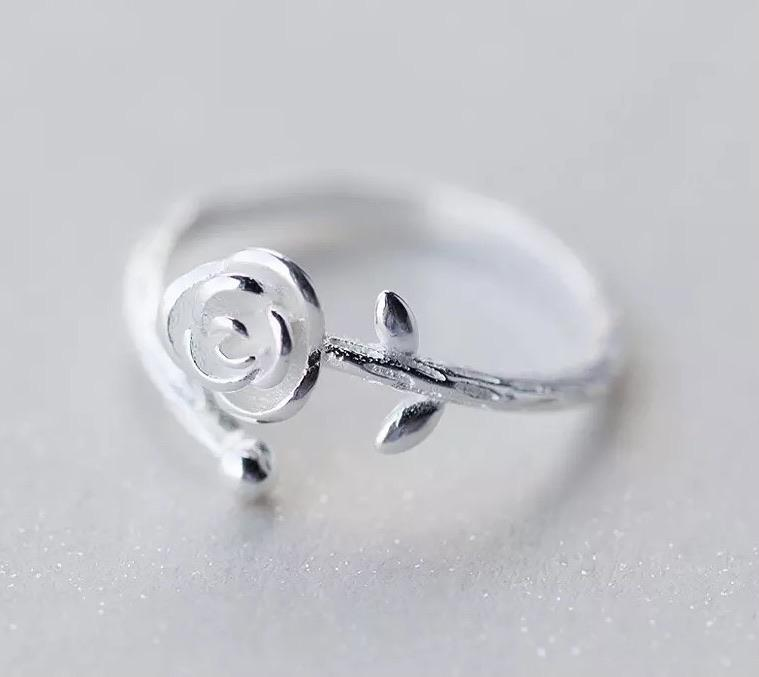 Sterling Silver Ring - Open Rose