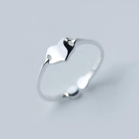 Sterling Silver Ring - Simple Heart