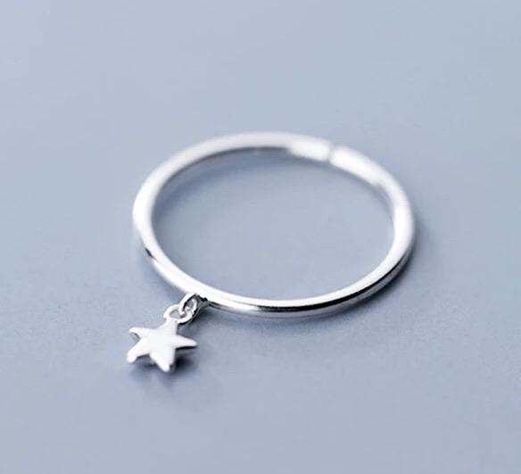 Sterling Silver Ring - Star Drop - Your Locket