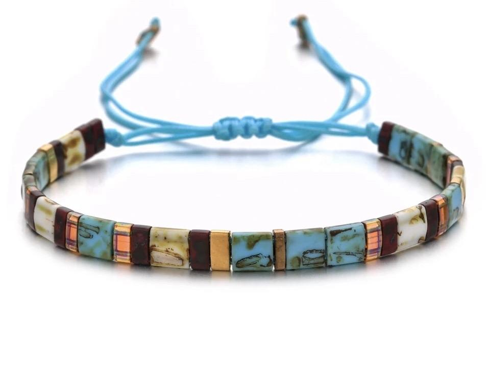 Tila Bead Bracelet - Blues