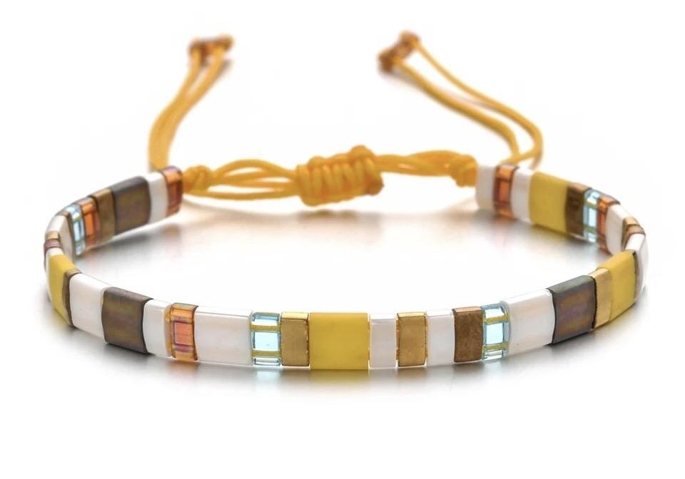 Tila Bead Bracelet - Golden