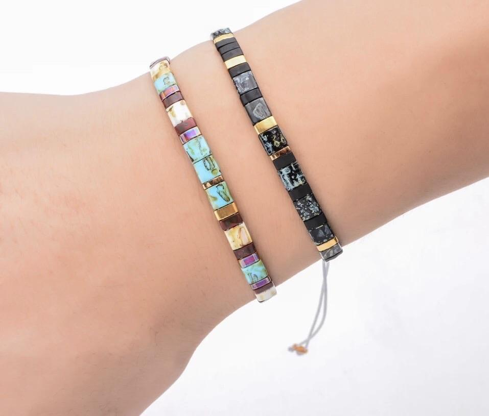 Tila Bead Bracelet - Midnight