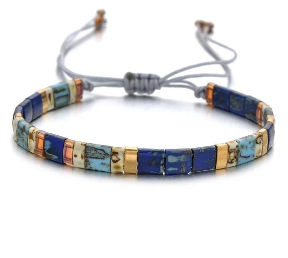 Tila Bead Bracelet - Midnight Blues