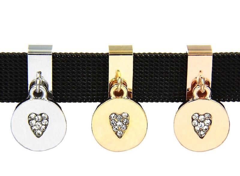 Vita Bracelet Crystal Heart Drop Slide Charm