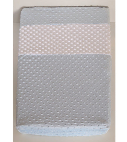 Changing Pad Cover Minky Blue