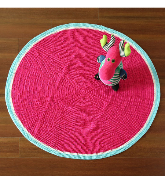 Watermelon round floor rug perfect for room decor