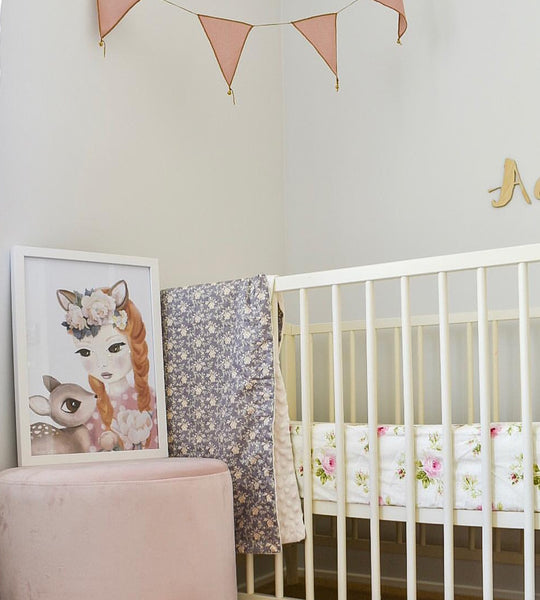 Cot sheet floral bloom