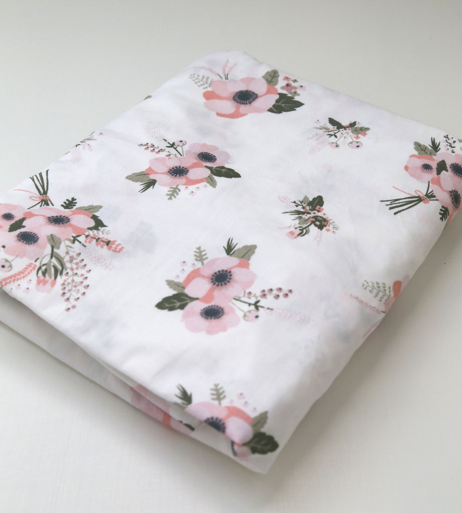 Fitted Cot sheet - Anemone
