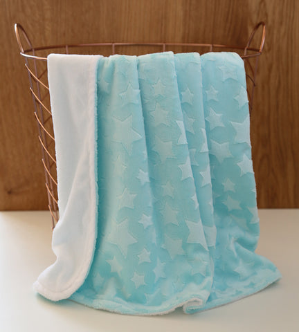 mint minky star baby blanket nursery
