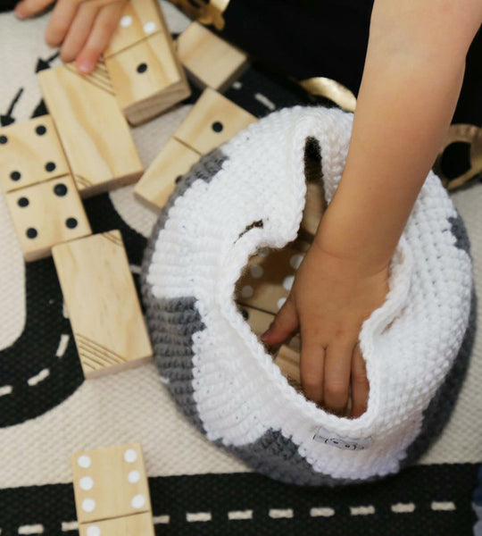 Putting dominoes in mountain basket
